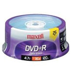 Maxell 25 x DVD+R - 4.7 GB 16x - spindle 639011