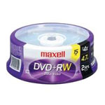 Maxell 15 x DVD+RW - 4.7 GB 4x - spindle 634046