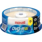 Maxell 15 x DVD-RW 4.7 GB 2x Spindle Storage Media 635117
