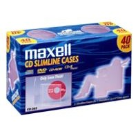 Maxell CD 365 - Storage CD slim jewel case (pack of 40) 190074
