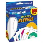 Maxell CD/DVD sleeve - white (pack of 100 ) 190133