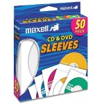 Maxell CD/DVD Sleeves - White (6 Packs of 50 sleeves - 300 sleeves total) 190135