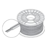 Speaker cable - 16 AWG - bare wire to bare wire - 500 ft