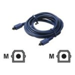 Digital audio cable (optical) - TOSLINK (M) to TOSLINK (M) - 6 ft - blue - molded