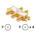 MATV Splitter - Antenna splitter - F connector (F) to F connector (F) - gold
