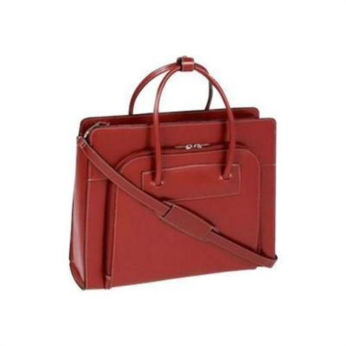 Mcklein Company Lake Forest Leather Ladies' Briefcase - Red