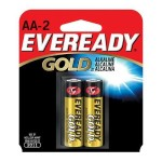 Eveready Gold - Battery 2 x AA alkaline (Minimum Order Quantity = 12)