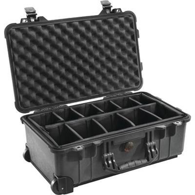 Pelican Products 1510 Hard Case with Dividers - Black (1510-004-110)