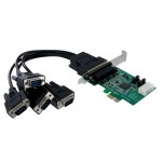 StarTech 4 Port Native PCI Express RS232 Serial Adapter Card with 16950 UART - PCIe RS232 Serial Card PEX4S952