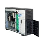 "Supermicro SuperServer 7046T-NTR+ - Server - tower - 4U - 2-way - RAM 0 MB - SATA - hot-swap 3.5"" - no HDD - ATI ES1000 - GigE - monitor: none"