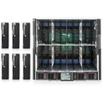 6x ProLiant BL495c G5 -1x Quad-Core AMD Opteron 2347HE 1.9GHz Blade Server - 4GB RAM, no HDD, Gigabit Ethernet with HP BladeSystem c7000 Enclosure, Single-Phase with 2 Power Supplies, 4 Fans with 8 Insight Control Environment 30 Day Trial Licenses