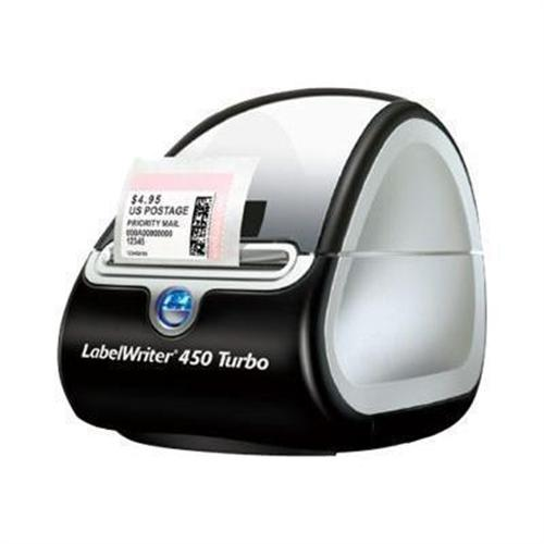 PCM   Dymo, LabelWriter 450 Turbo - Label printer - thermal paper - Roll  (2 44 in) - 600 x 300 dpi - up to 71 labels/min - USB 2 0 - black, 1752265