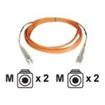 2 Meter LC-LC OM2 Fiber Optic Cable, Orange PVC Jacket, 50/125, MM DX