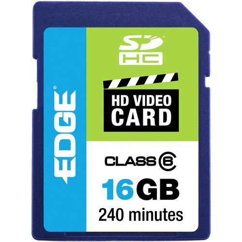 Edge Memory 16GB Edge Sdhc Hd Video Card Class 6