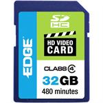 32GB Edge Sdhc Hd Video Card Class 4