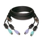 Avocent Keyboard / video / mouse (KVM) cable - 6 pin PS/2, DVI-D (M) to 6 pin PS/2, DVI-D (M) - 15 ft CBL0057