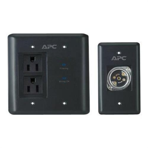 APC AV Black In-Wall Power Filter and Connection Kit - surge suppressor