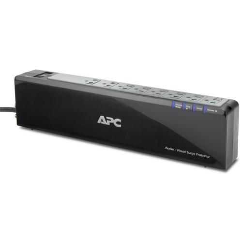 APC Premium Audio/Video Surge Protector 8 Outlet with Coax Protection, 120V