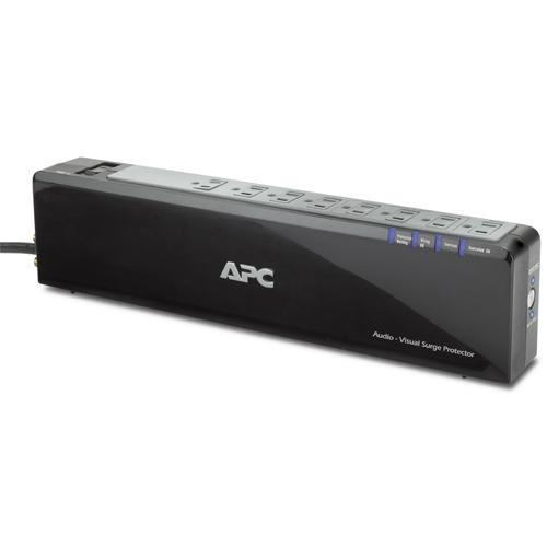 APC Audio/Video Power-Saving Surge Protector 8 Outlet with Phone/Network/Coax Protection, 120V