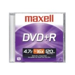 Maxell DVD+R - 4.7 GB ( 120min ) 16x - jewel case 639000