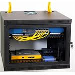 8U Security Wall Rack Enclosure - Mount cabinet - wall mountable - 8U - 19""