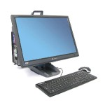 Neo-Flex All-In-One Lift Stand - Stand for LCD display / CPU - black - screen size: up to 24""