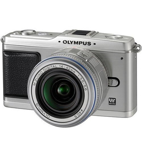 Olympus EP-1 12.3 Megapixel PEN Digital Camera with 14-42mm Silver Lens - Silver Body