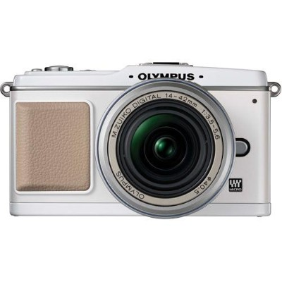 Olympus EP-1 12.3 Megapixel PEN Digital Camera with 14-42mm Silver Lens - White Body (262812)