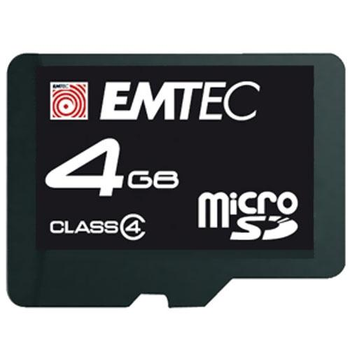 Emtec 4GB High Speed micro-SD 60x Flash memory card with Adapter