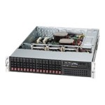 Supermicro SC213 A-R720LPB - Rack-mountable - 2U - extended ATX - SATA/SAS - hot-swap 720 Watt - black