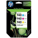 940 Combo-pack Cyan/Magenta/Yellow Officejet Ink Cartridges