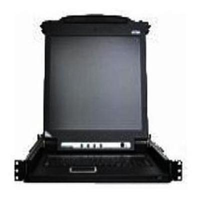 Aten Technology KVM Console with KVM Switch - 8-Ports - Rack-mountable - TFT - 17