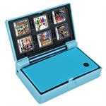 IDS-MFCL Tuff Case with Cartridge Storage - Hard case for game console - plastic - blue - for Nintendo DSi