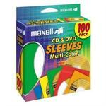 CD/DVD sleeve - capacity: 1 CD/DVD - multicolor (pack of 100)