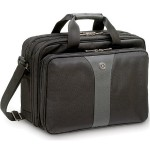 "LEGACY 16"" Double Gusset Laptop Case - Notebook carrying case - 16"" - black gray"
