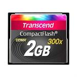 Transcend CF300 Industrial - Flash memory card - 2 GB - 300x - CompactFlash TS2GCF300