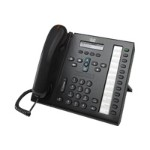 Unified IP Phone 6961 Slimline - VoIP phone - SCCP - multiline - charcoal