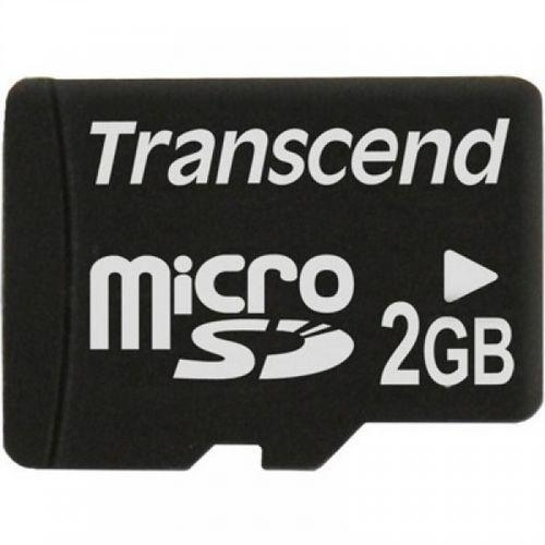 Transcend flash memory card - 2 GB - microSD