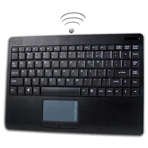 Adesso SlimTouch Wireless 2.4 GHz RF Mini Touchpad Keyboard - USB - Black