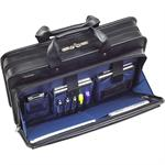 """16"""" Commuter Leather Laptop Case - (Black)"""