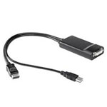 DVI adapter - USB, DisplayPort (M) to DVI-D (F) - for EliteDesk 800 G1, 800 G2; EliteOne 800 G2; ProDesk 400 G3, 490 G3, 600 G2; ProOne 600 G2