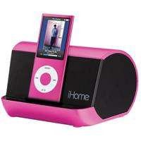 7908941 lg iHome IHM9PC Portable Player Speaker in Pink   $18