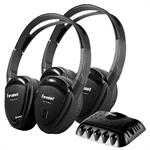 Power Acoustik HP-22IRT Wireless Dual Channel IR Headphone with Transmitter HP-22IRT