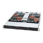 Supermicro SC808 T-1200B - Rack-mountable - 1U - up to 2 blades - SATA/SAS - hot-swap 1200 Watt - black