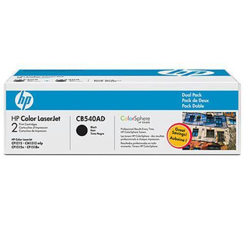 HP Color LaserJet CB540A Dual Pack Print Cartridge