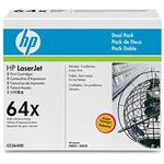HP Inc. LaserJet CC364X Dual Pack Black Print Cartridges CC364XD