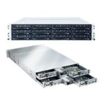 Supermicro SuperServer 6026TT-HTF - 4 nodes - cluster - rack-mountable - 2U - 2-way - RAM 0 MB - no HDD - MGA G200eW - GigE, InfiniBand - monitor: none