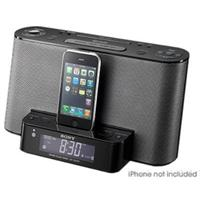 7912564 lg Sony ICFCS10IPBLK iPod/iPhone Speaker Dock and Clock Radio   $58