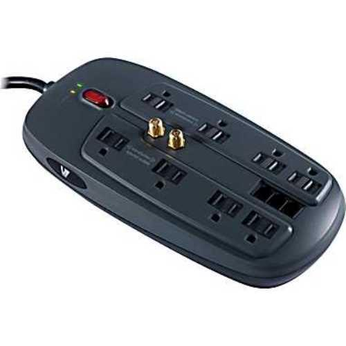 V7 8-Outlet 1800 Joule Surge Protector With 6' Cord