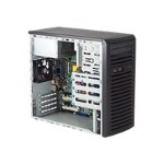 Supermicro SC731 D-300B - Mid tower - micro ATX 300 Watt - black - USB/FireWire/Audio/E-SATA